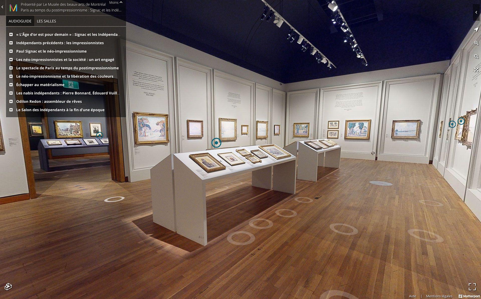 Vue de la version virtuelle de l'exposition Paris au temps du postimpressionnisme : Signac et les Indépendants.