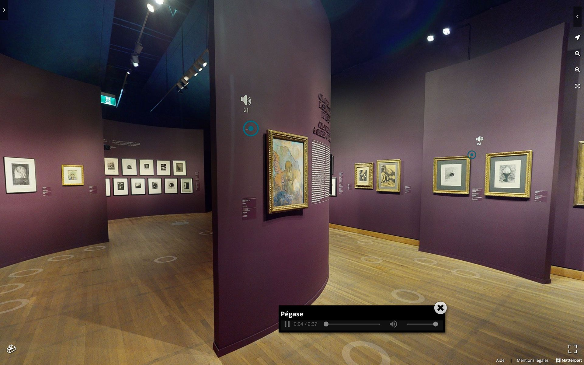 View of the virtual edition of the exhibition Paris in the Days of Post-Impressionism: Signac and the Indépendants.