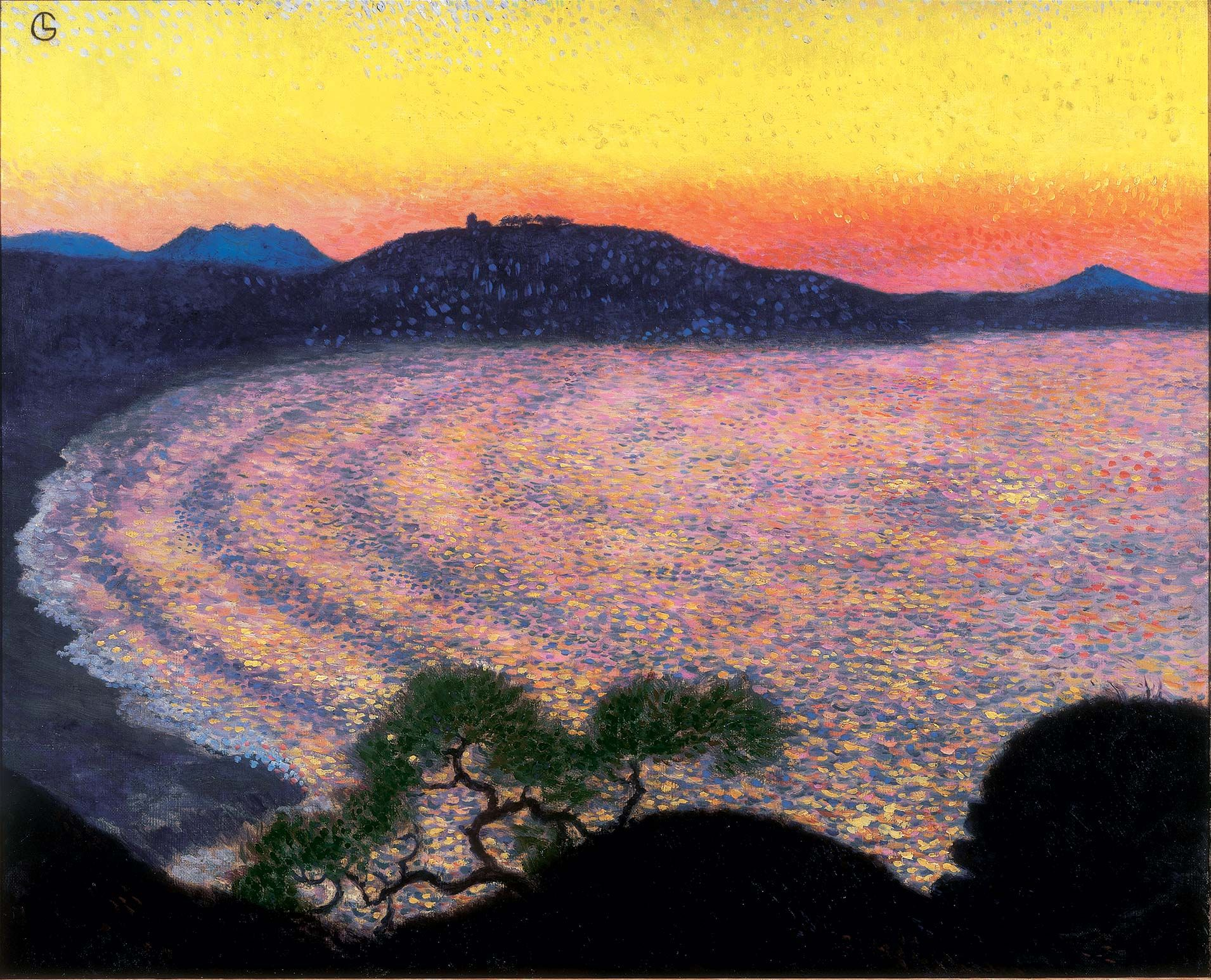 Georges Lacombe (1868-1916), Baie de Saint-Jean-de-Luz (Côte de Sainte-Barbe), vers 1904. Collection particulière