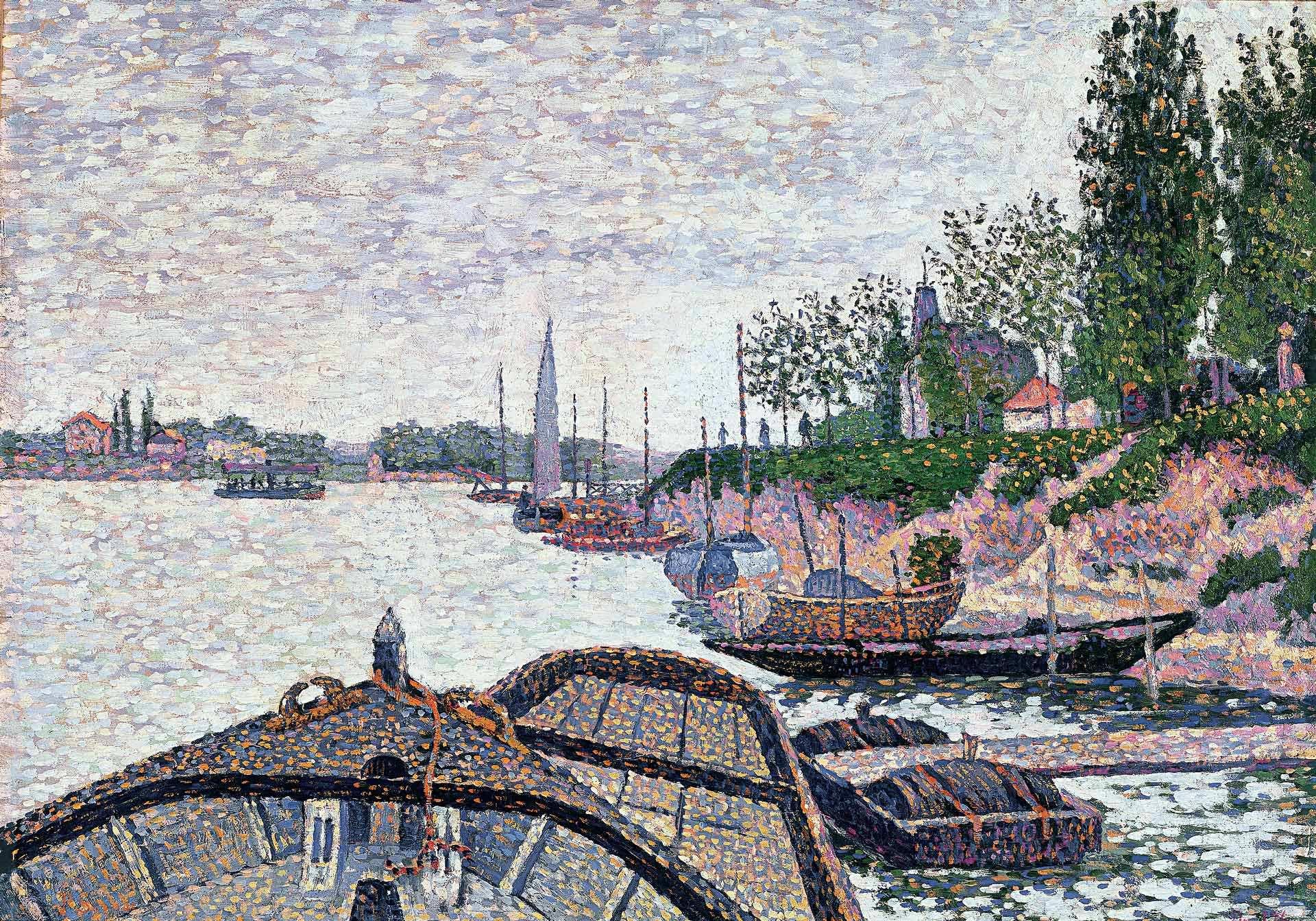 Paul Signac (1863-1935), Avant du Tub, Opus 176, 1888. Collection particulière
