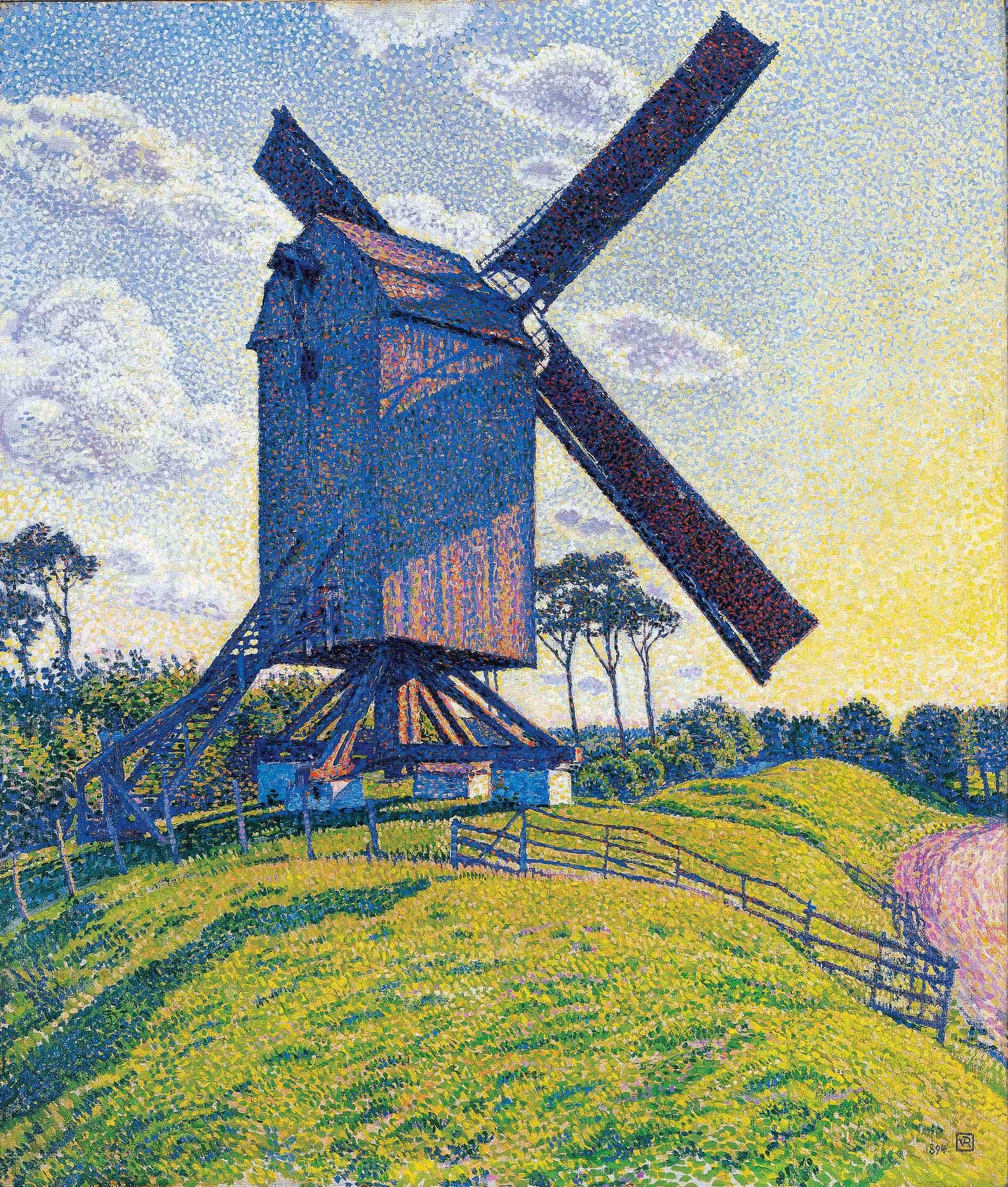 Théo Van Rysselberghe (1862-1926), Le Moulin du Kalf à Knokke ou Moulin en Flandre, 1894. Collection particulière