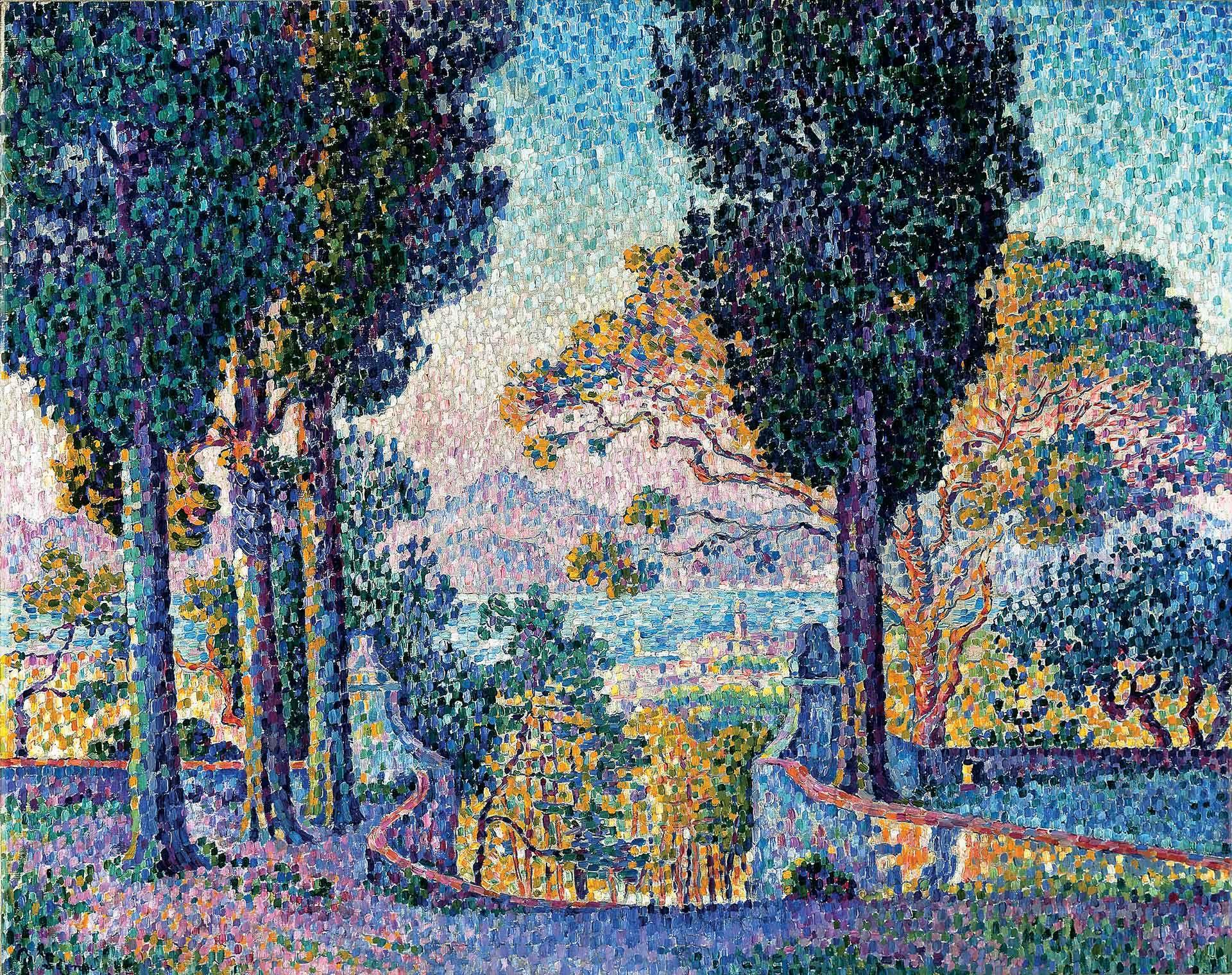 Paul Signac (1863-1935), Sainte-Anne (Saint-Tropez), 1903, huile sur toile. Collection particulière