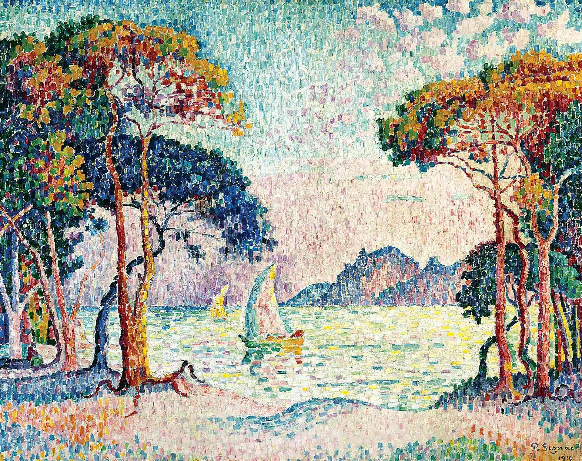 Paul Signac (1863-1935), Saint-Tropez. Fontaine des Lices, 1895. Collection particulière