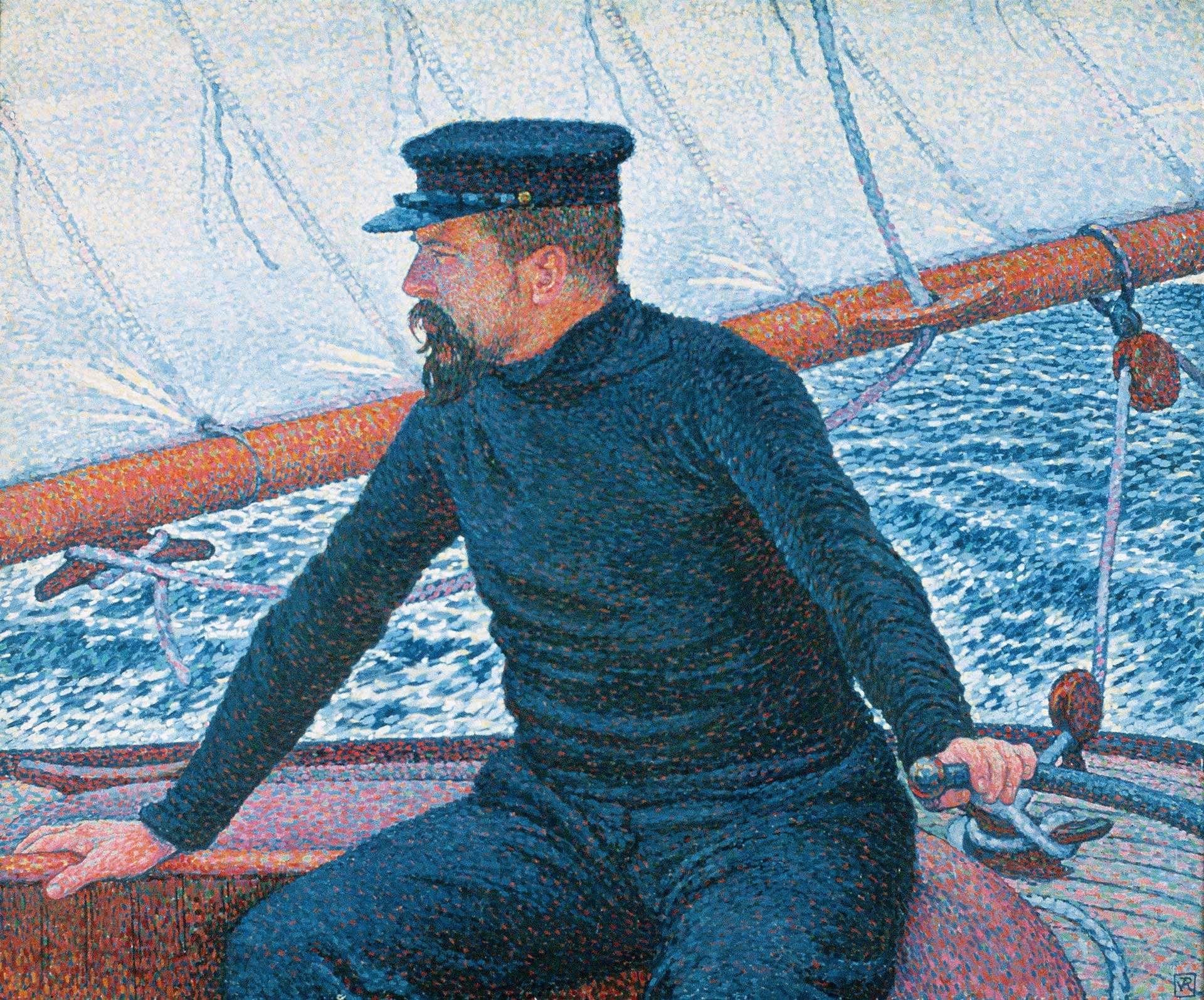 Théo Van Rysselberghe (1862-1926), Paul Signac en yachtman, 1896. Collection particulière