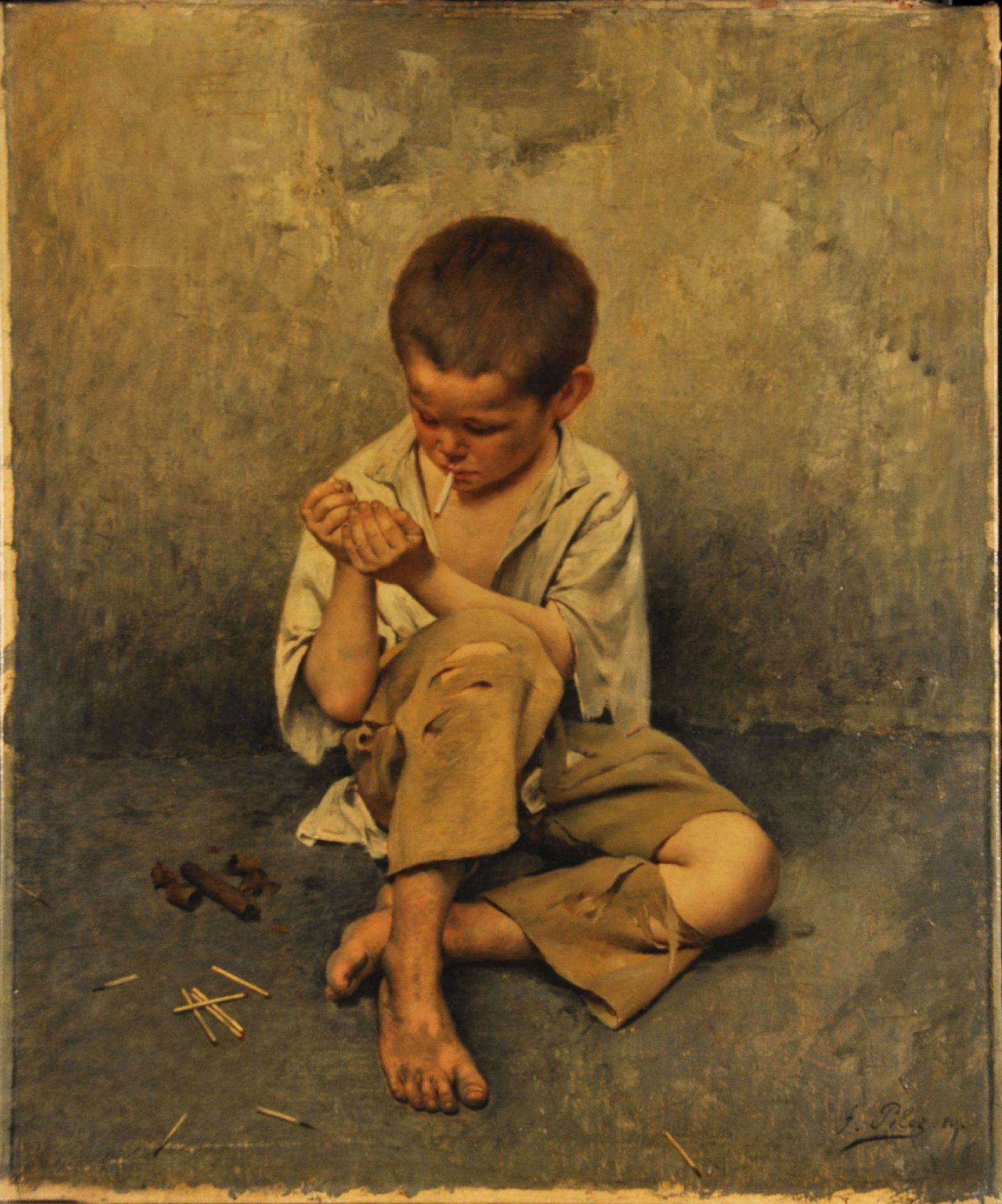 Fernand Pelez, *Street Child*, 1880, oil on canvas, 95.3 x 79.1 cm. MMFA, William F. Angus Bequest