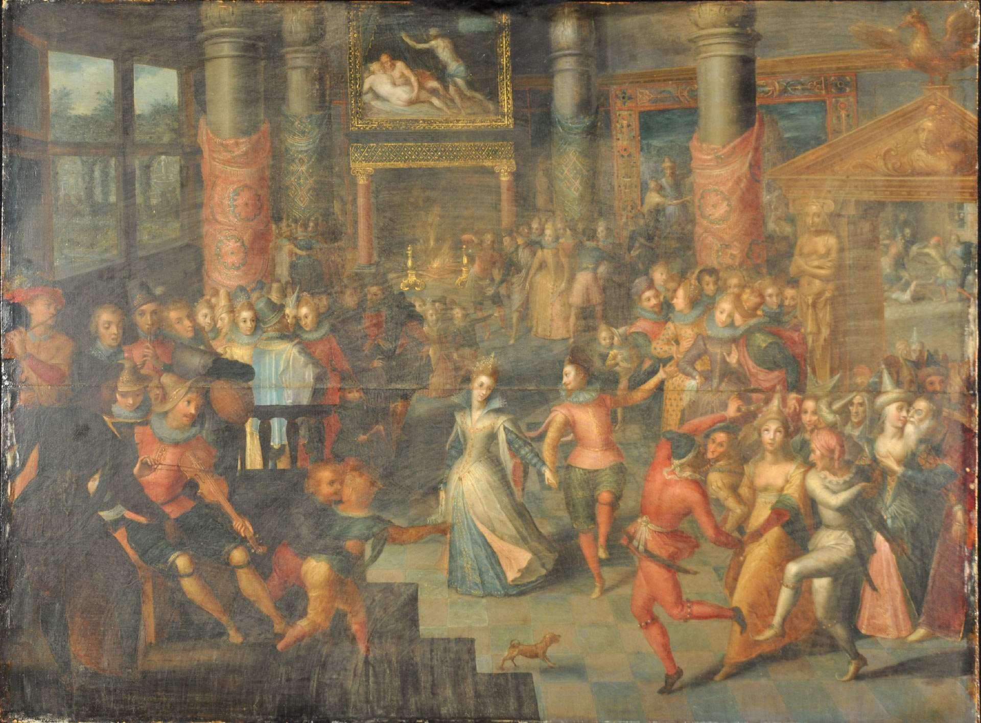 Marten Pepyn, *Carnival Scene*, 1604, tempera, oil and gold on wood, 50 x 67 cm. MMFA, Arthur M. Terroux Bequest.