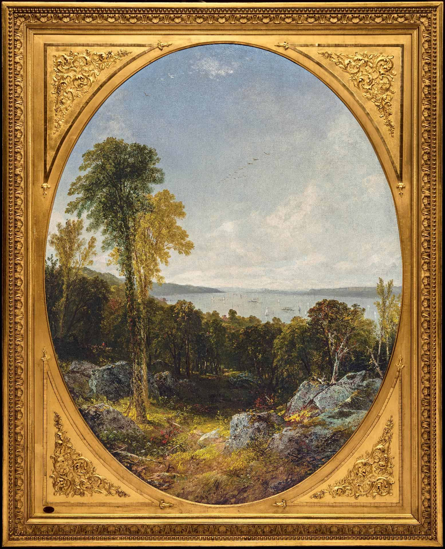 John Frederick Kensett, On the Hudson, 1855, oil on canvas, 154.3 x 119.7 cm. MMFA, gift of the family of Dr. F. Wolferstan Thomas