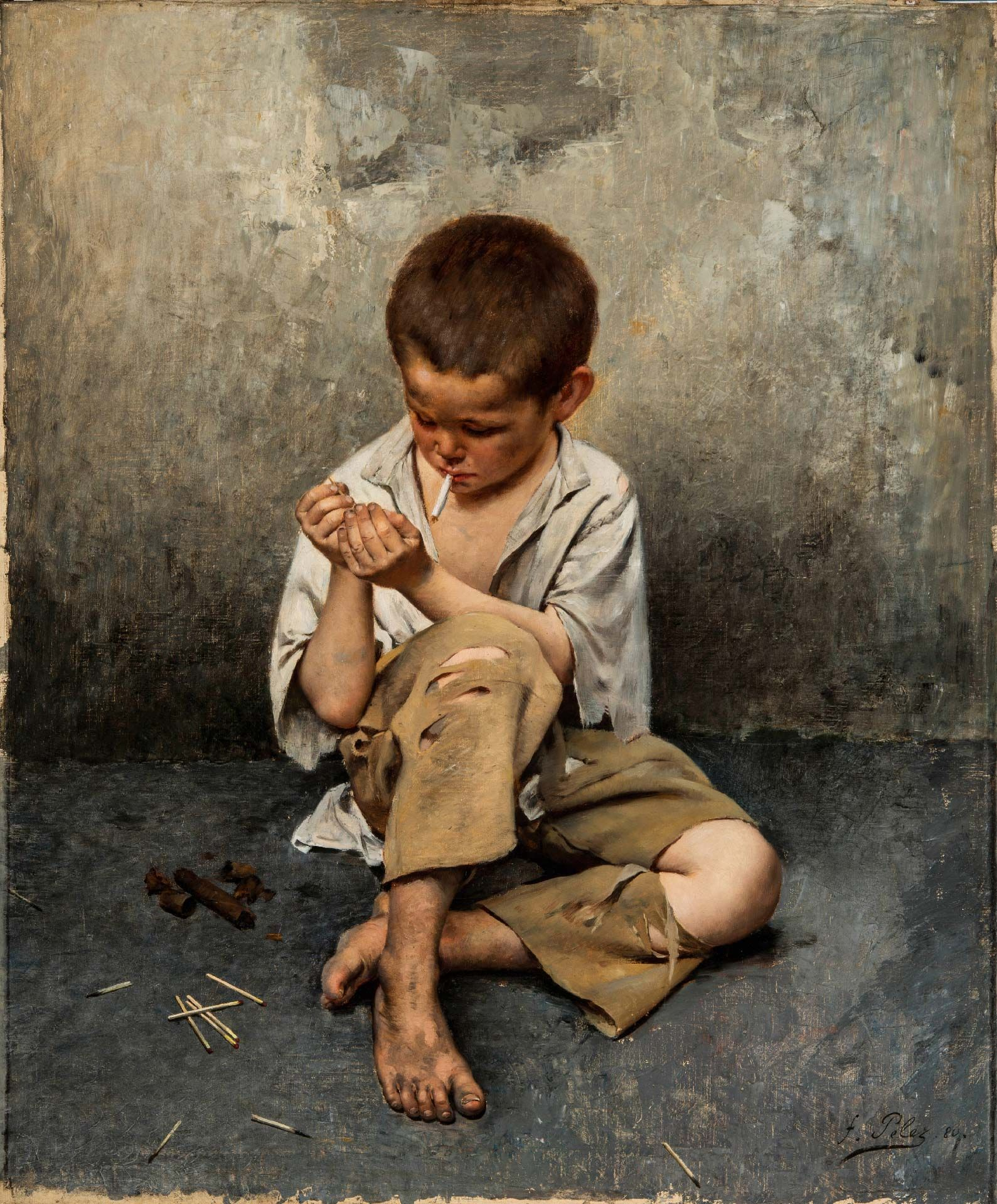 Fernand Pelez, Street Child, 1880, oil on canvas, 95.3 x 79.1 cm. MMFA, William F. Angus Bequest