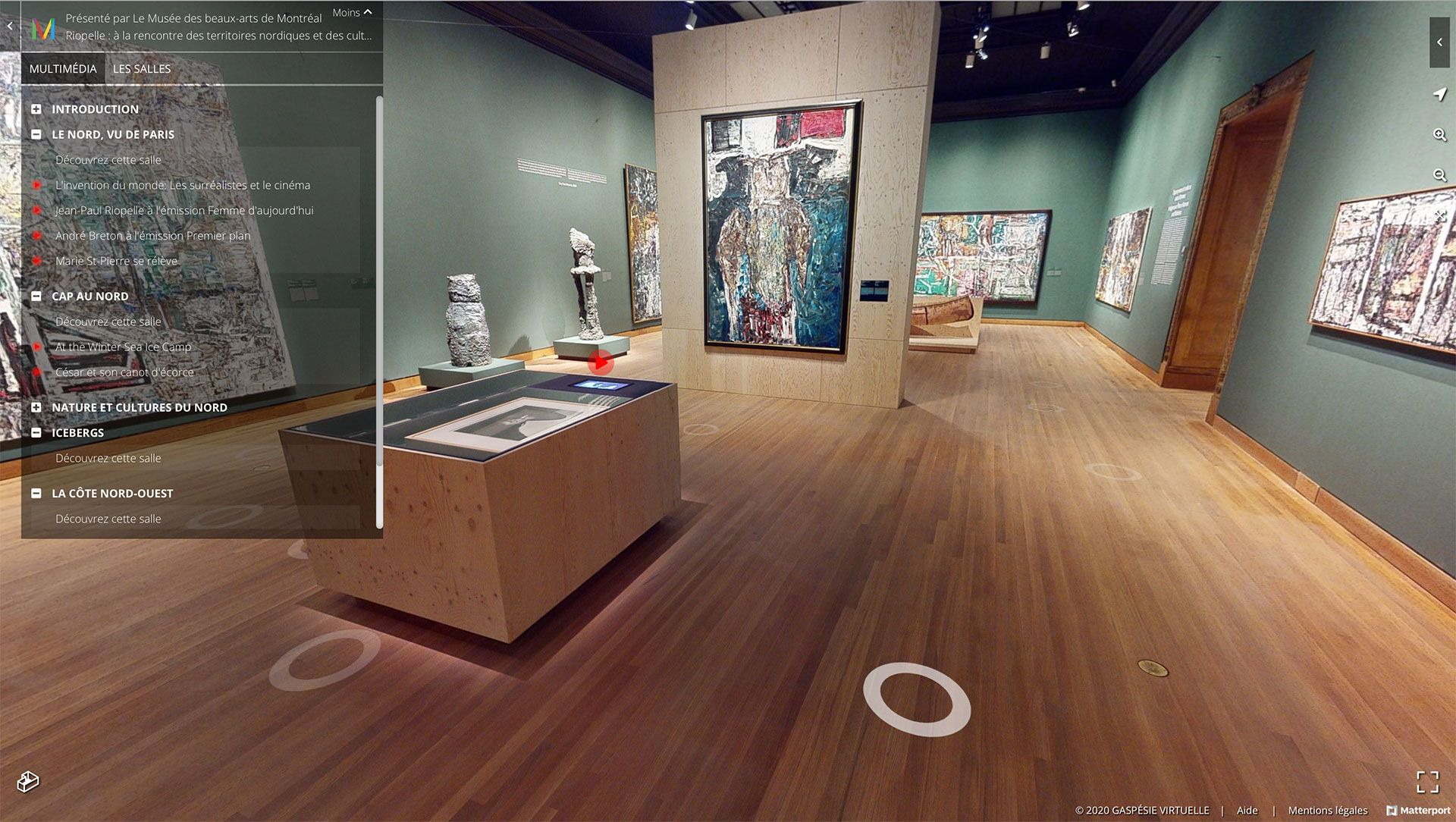 View of the virtual edition of the exhibition Riopelle: The Call of Northern Landscapes and Indigenous Cultures.