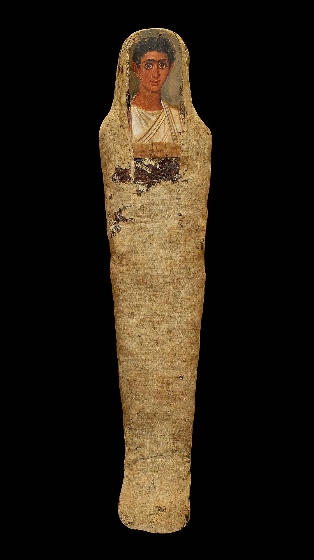 Mummy of a young man. Roman Period, about 140–180 CE, probably Thebes, Egypt, EA 6713. © The Trustees of the British Museum