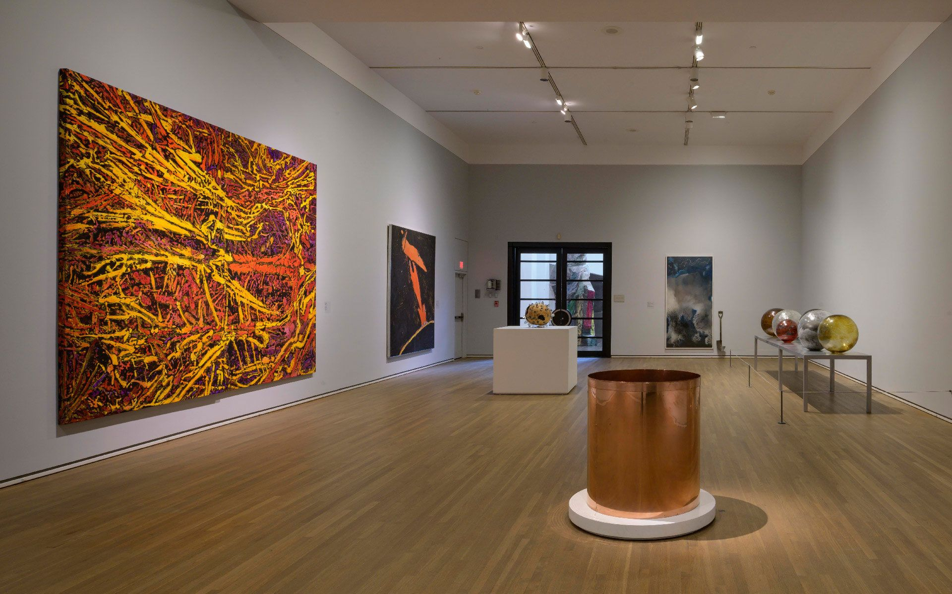 Photo of the museum's contemporary art collection.