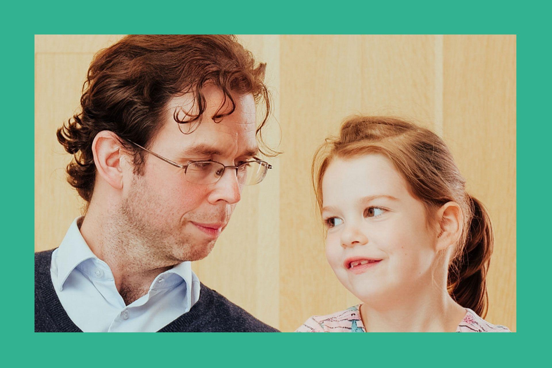 Étienne Paradis et sa fille, donateur depuis 2017