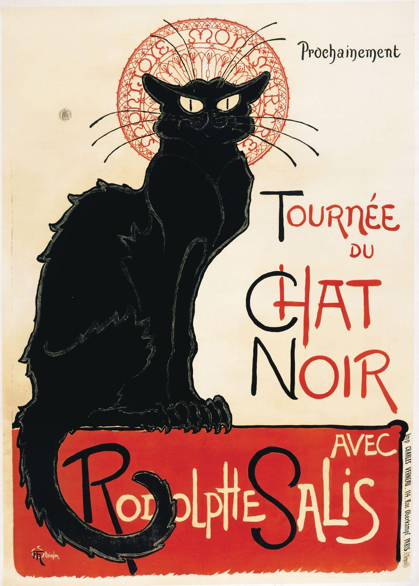 Théophile Alexandre Steinlen (1859-1923), Tournée du Chat Noir, 1896, Colour lithograph on wove paper, 139.3 x 98.7 cm. Private collection. Photo Peter Schälchi