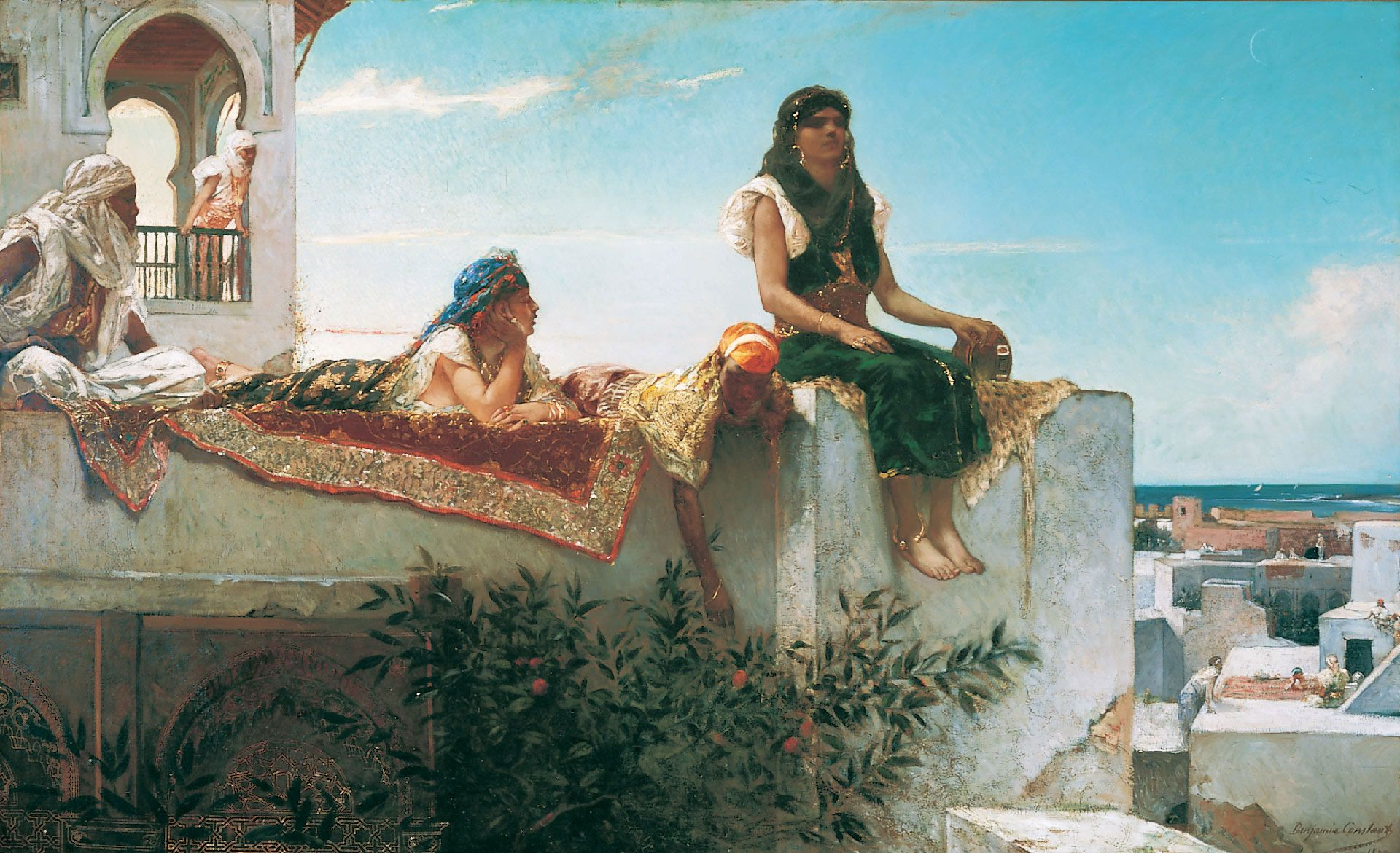 Jean-Joseph Benjamin-Constant, evening on the Terrace (Morocco), 1879