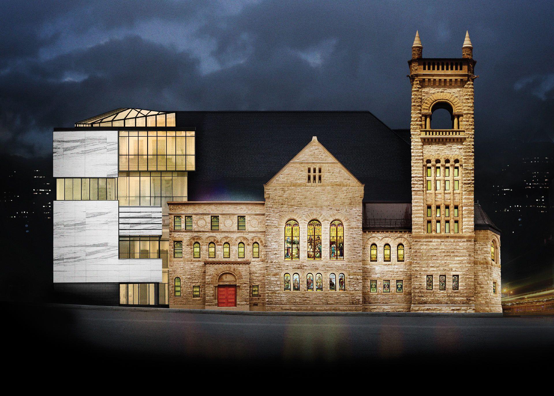Extérieur de la Salle Bourgie du Musée des beaux-arts de Montréal