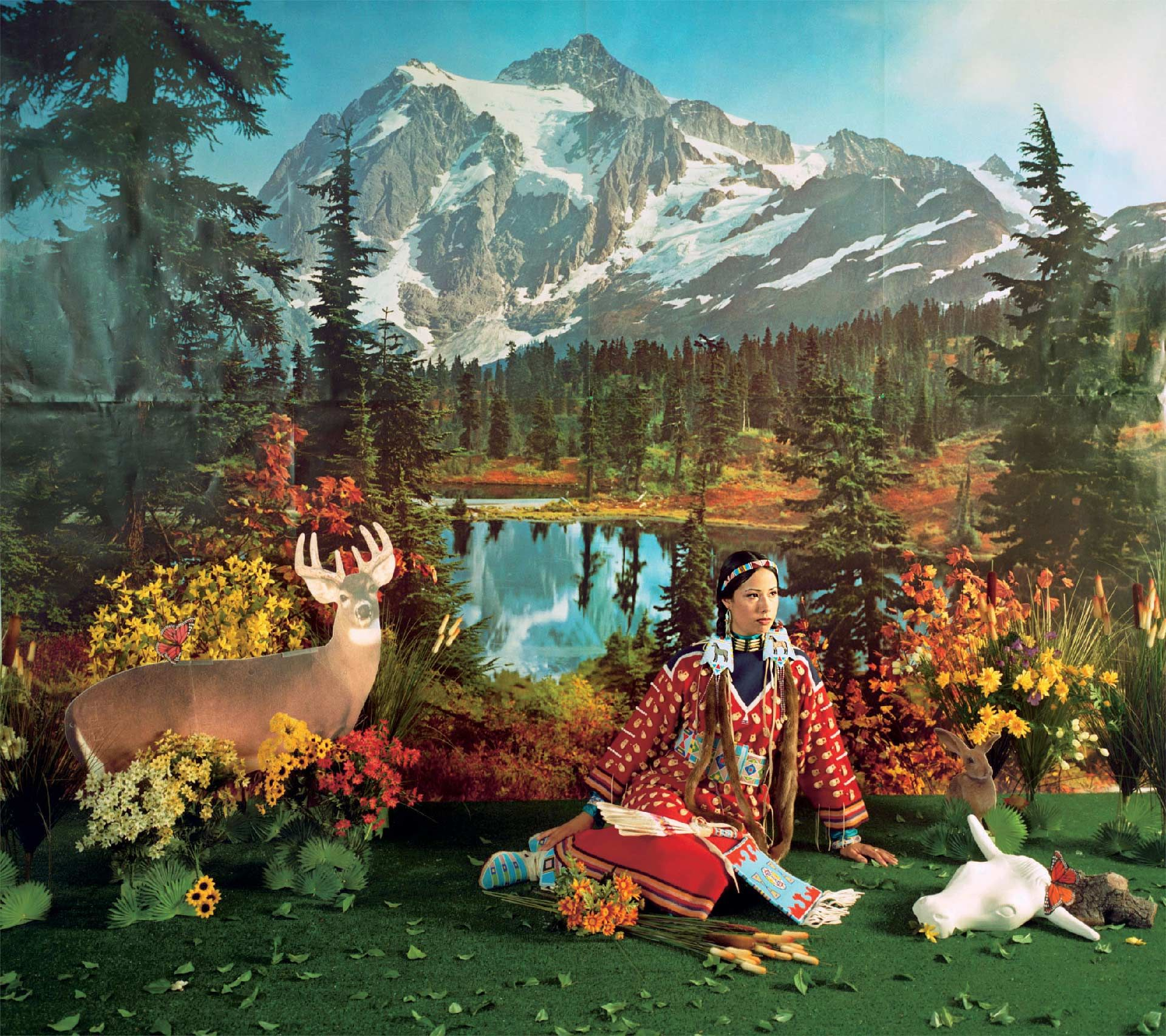 "Wendy Red Star (born in 1981), Indian Summer, from the series ""Four Seasons,"" 2006, chromogenic print. Collection of Brian Tschumper. Courtesy of the artist"