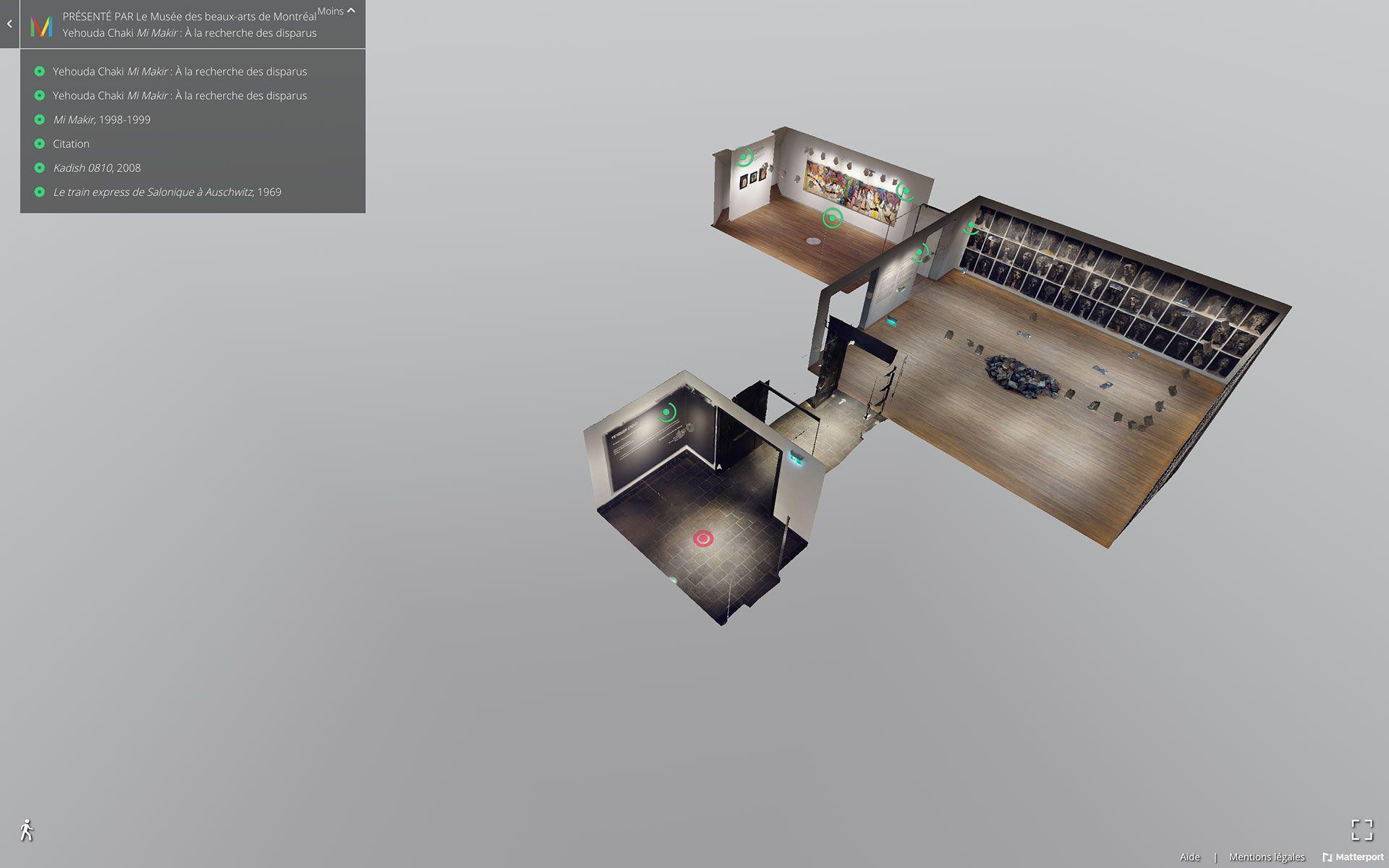 Vue de la version virtuelle de l'exposition Yehouda Chaki : Mi Makir. À la recherche des disparus.