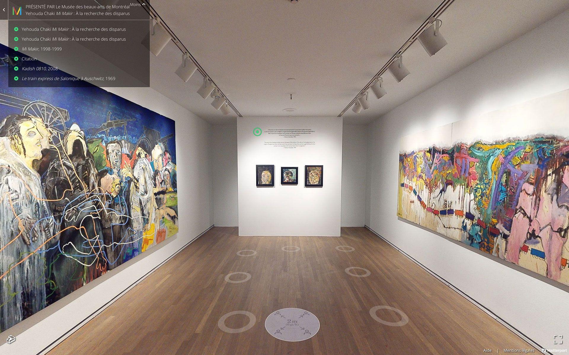 Vue de la version virtuelle de l'exposition Yehouda Chaki : Mi Makir. À la recherche des disparus