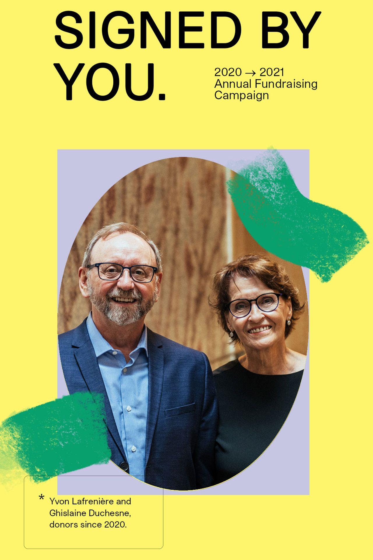 Yvon Lafrenière et Ghislaine Duchesne, donateurs depuis 2020
